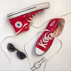 Converse All Star red high top chucks sneakers S7